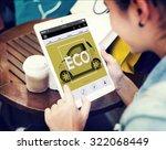 webpage car information... | Shutterstock . vector #322068449