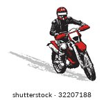 black and red motorbike | Shutterstock .eps vector #32207188