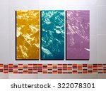 the collage photos on tile... | Shutterstock . vector #322078301