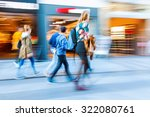 people in motion blur on the... | Shutterstock . vector #322080761