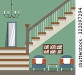 hallway decoration vector... | Shutterstock .eps vector #322097294