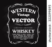 western design frame flourish... | Shutterstock .eps vector #322099895