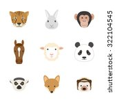 animal face set | Shutterstock .eps vector #322104545