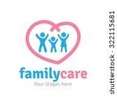 family logo vector logo template | Shutterstock .eps vector #322115681