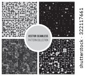 set of four vector seamless ...