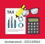 tax payment design  vector... | Shutterstock .eps vector #322120061