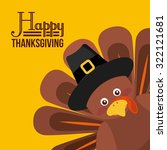 happy thanksgiving design ... | Shutterstock .eps vector #322121681