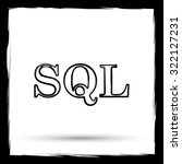 sql icon. internet button on... | Shutterstock . vector #322127231
