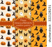 collection of happy halloween... | Shutterstock .eps vector #322128251