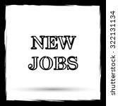 new jobs icon. internet button... | Shutterstock . vector #322131134