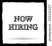 now hiring icon. internet... | Shutterstock . vector #322131227