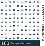 transportation icons vector set | Shutterstock .eps vector #322133261