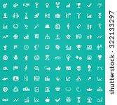 success 100 icons universal set ... | Shutterstock .eps vector #322133297