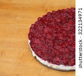 homemade rustic cheesecake with ... | Shutterstock . vector #322134971