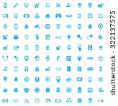 internet of thing icons vector... | Shutterstock .eps vector #322137575