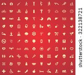 health 100 icons universal set... | Shutterstock .eps vector #322138721