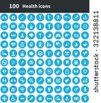 health 100 icons universal set... | Shutterstock .eps vector #322138811