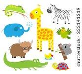 cute animal set. baby... | Shutterstock .eps vector #322141319