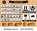 set of packaging symbols  this... | Shutterstock .eps vector #322143935