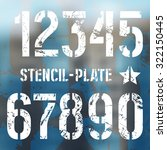 stencil plate numbers in... | Shutterstock .eps vector #322150445