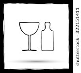 bottle and glass icon. internet ... | Shutterstock . vector #322151411