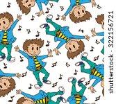 boy dancing seamless pattern | Shutterstock . vector #322156721