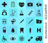 set of 25 medical minimal icons | Shutterstock .eps vector #322160945