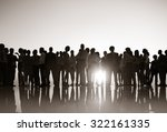 group people silhouette... | Shutterstock . vector #322161335