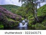a waterfall amongst the heather ...