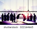 business people meeting bowing... | Shutterstock . vector #322164665