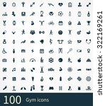 gym icons vector set   Shutterstock .eps vector #322169261