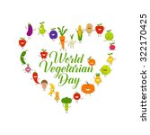 world vegetarian day vector ... | Shutterstock .eps vector #322170425