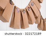 handmade tinkered advent... | Shutterstock . vector #322172189