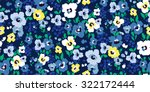 Stock vector painted flowers seamless vector background 322172444