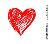 vector sketch icon of heart | Shutterstock .eps vector #322185311