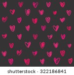 seamless pattern with pink hand ... | Shutterstock .eps vector #322186841
