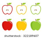 yellow  green and red stylized...   Shutterstock .eps vector #322189607