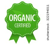organic certified green label... | Shutterstock .eps vector #322194011