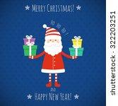 christmas celebration time... | Shutterstock .eps vector #322203251