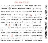 vector set of different aztec... | Shutterstock .eps vector #322205351