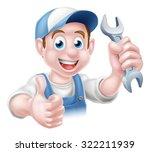 cartoon plumber or auto repair...   Shutterstock . vector #322211939