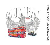 chhatrapati shivaji terminus... | Shutterstock .eps vector #322217531