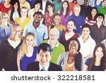 diverse diversity ethnic... | Shutterstock . vector #322218581