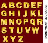 tarnished gold font set. letter ... | Shutterstock .eps vector #322220351