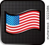 American Flag On Black Halftone ...