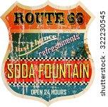 Retro Route Sixty Six Soda...