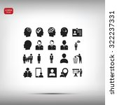 business man icons | Shutterstock .eps vector #322237331
