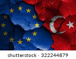 Flags Of Eu And Turkey Painted...