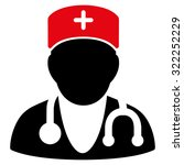 physician raster icon. style is ... | Shutterstock . vector #322252229