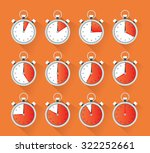 collection of a stopwatch... | Shutterstock .eps vector #322252661